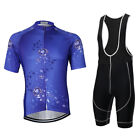 Violet Summer Men Cycling Jerseys Short Sleeve Clothing Set Bib Shorts S-3XL