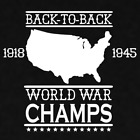 Back to Back World War Champs WW2 Merica USA US Vinyl Sticker Die Cut Decal