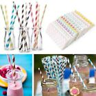 25Pcs Drinking Paper Straws Pink Gold Black and White Floral Party Decoration