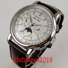 42mm Debert White dial silver Hands Moon Phase Automatic Movement men's Watches