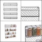 4 Tier Vintage Metal Chicken Spice Rack Organizer Kitchen Wall Pantry Cabinet