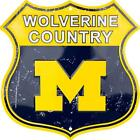 Michigan Wolverines Wolverine Country 12 x 12 Shield Sign USA FAST SHIPPING