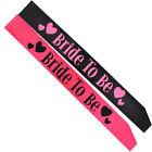 Fashion Hot Pink Bride to be Sash Hen Night Bachelorette Bridal Shower Party New