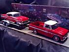 124 Scale Diecast 3 pcSet Red White66 Chevy C 1057 Bel Air