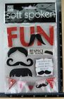 Soft Spoken FUN MUSTACHE Stickers
