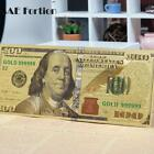 100 Dollar Bills Bank Note Gold Plated Fake Currency Money