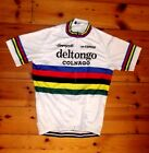 Brand New Team Del Tongo Colnago world Champion Cycling jersey Saronni