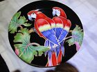 "Fitz And Floyd Jungle Parrot Plate 378 Made Of Fine Porcelain In Japan 7 ½"" Dia"