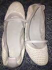 Cole Haan 9B Silver Gray Casual Mary Jane Stretch Women's Shoe