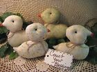4 Handmade floral fabric Baby Chicks bowl fillers Cottage Easter Home Decor