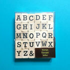 Large Alphabet Rubber Stamp Set Wood Mount Recollections Uppercase Serif
