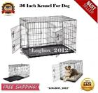 Large Dog Crate Kennel 36 Inch Huge Size Folding Pet Wire Cage Big Breed Black