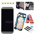 New LCD display Touch Screen Digitizer + Frame Assembly for HTC ONE M8 Grey US