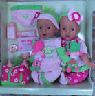 Hispanic Twin Baby Dolls 22 Pc Set Reborn realistic 15 NIB eyes open close