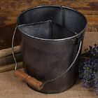 Primitive Reproduction Small Divided Barn Bucket Country Vintage Farmhouse New