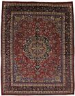 Gorgeous Traditional Handmade Signed Vintage Persian Rug Oriental Carpet 10X13