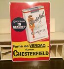 Vintage Chesterfield Cigarettes Metal Sign