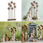 New Holiday Metal Star Backdrop Nativity Scene Collection Home Decor Figurative