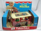 FISHER PRICE LITTLE PEOPLE 141 Play Family Mini Bus Red Original Box MIB 1977