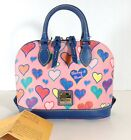 Dooney  Bourke Bitsy Bag Pink Multi Color Hearts