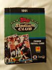 1991 TOPPS STADIUM CLUB FOOTBALL BOX POSSIBLE BRETT FAVRE RC
