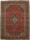Nice S Antique Traditional Handmade Kashan Persia Rug Oriental Area Carpet 10X13
