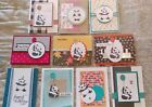 10 Handmade PARTY PANDAS cards Birthday Love You etcFREE Shipping Stampin Up