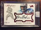 2016-17 Flawless Barry Sanders Auto Now & Then Signatures 5 10 encased card