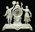 Antique Ansonia Figural Clock Frolic Fancy Dial Circa 1878 1894