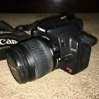 Canon EOS Digital Rebel XT EOS 80MP Digital SLR Camera Black Excellent Cond