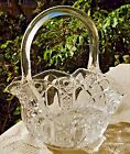 VINTAGE MID-20th CENTURY L.E. SMITH GLASS COMPANY - GLASS BASKET CANDY DISH