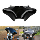 ABS Black Front Outer Batwing Fairing For Harley Touring Road King Softail Dyna