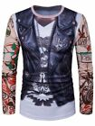 Skull Leather Jacket 3D Print Funny T-shirt -  bis 2 x  XL ab Lage