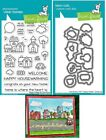 Lawn Fawn HAPPY VILLAGE Stamps Dies or Both LF1591 LF1592 Spring Easter
