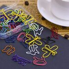 Multicolor Paper Clips Creative Animal Shape for Bookmark Office School Not H4I6