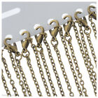"12x Bronze Lobster Clasp Link Chain Necklaces 18"" Y9V8"
