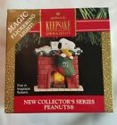 Hallmark Peanuts 1991 Fireplace Snoopy Stocking Magic Light Christmas Ornament