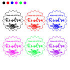 PERSONALIZED CUSTOM MADE NAME RUBBER STAMPS UNMOUNTED WEDDING BUSINESS SIGNATURE