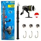 Fishing Combo Glass Fiber Telescopic Fishing Rod and Reel
