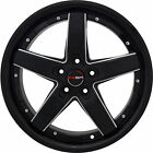 4 GWG Wheels 18 inch Black Mill DRIFT Rims fits SUBARU B9 TRIBECA 2006 2007