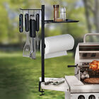 Grilling Accessories Organizer 4 Hooks Paper Towel Holder Clams to Grill