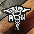 Black  White Registered Nurse RN Die Cut Patch