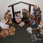 Large Retired Kirkland Christmas Nativity Scene Display Set Figurine Ornament