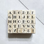 Alphabet Letters Rubber Stamp Set 30 Mini 1 4 Wood Mounted for Crafts Planners