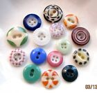 Antique China Button Mix #12 - Calico, Stencil, Bullseye, Piecrust, Solid- 15x
