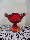 Stars Pedestal Compote Candy Dish Bowl EXC