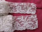 ANTIQUE LOT OF EMBROIDERED COTTON NET EDGING LACE~TRIM~172