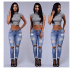 Womens Vintage Ripped Skinny Denim Slouchy Boyfriend Jeans High Waist XL