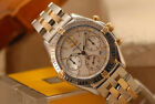 BREITLING MENS LADIES 36mm 18K/SS CHRONOGRAPH WINDRIDER MOTHER OF PEARL B55048