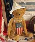 Bethany Lowe*AMERICANA TEDDY BEAR*United States 1776 FLAG*Stars*New!
